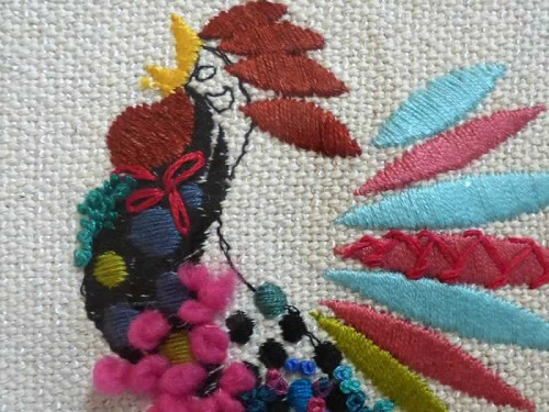 Gallo Flor Roja